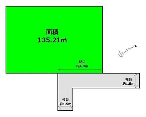 土地-仙台市太白区越路 区画図