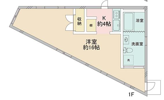 アパート-新宿区富久町 間取り