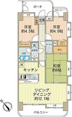 中古マンション-八王子市堀之内2丁目 3LDK、価格1450万円・専有面積65.24m2、バルコニー面積9.99m2