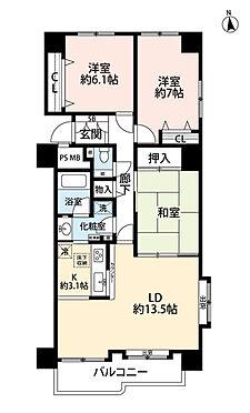 区分マンション-札幌市北区篠路三条6丁目 間取り