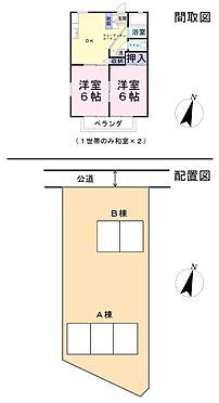 アパート-比企郡吉見町大字下細谷 10世帯中、1世帯のみ和室×2です。