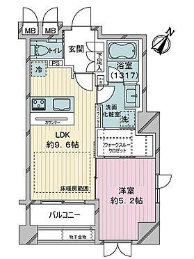 中古マンション-港区赤坂4丁目 間取り
