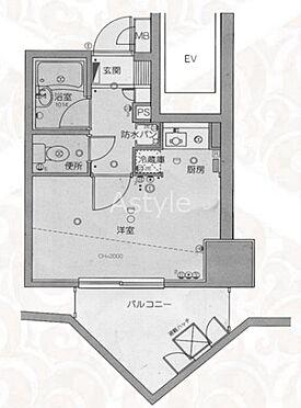 区分マンション-品川区東五反田4丁目 間取り