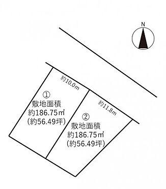 土地-豊田市花園町 1号地:約186.75平米(約56.49坪)
