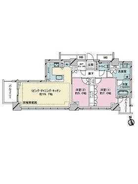 中古マンション-品川区西五反田3丁目 間取り