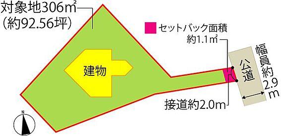 中古一戸建て-田方郡函南町平井 【配置図】建物への通路として、道路から下りの階段を通ります。