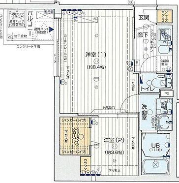 区分マンション-大阪市中央区農人橋2丁目 間取り