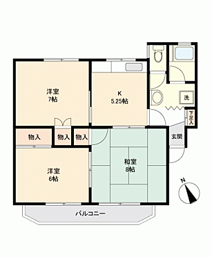 マンション(建物一部)-長野市鶴賀七瀬南部 間取り