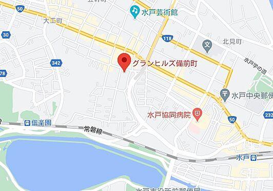 一棟マンション-水戸市備前町 地図