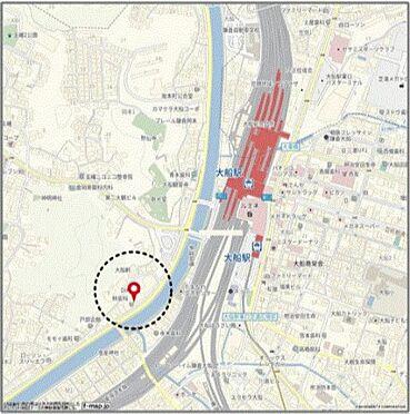 店舗事務所(建物一部)-鎌倉市岡本2丁目 地図