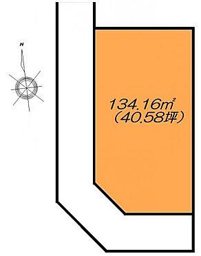 土地-仙台市太白区西の平1丁目 区画図