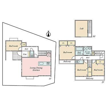 新築一戸建て-横浜市戸塚区平戸4丁目 4LDK+ロフト+大型車庫