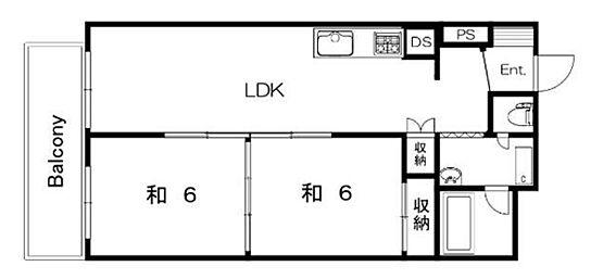 マンション(建物一部)-大阪市鶴見区今津中1丁目 ベランダ出入口2つ有