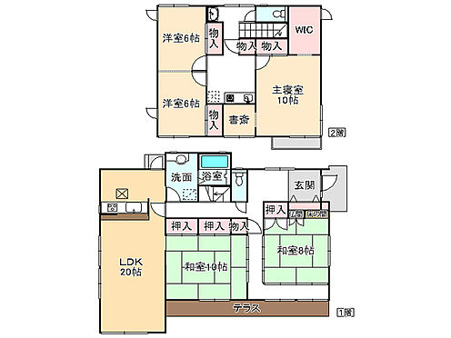 中古一戸建て-神戸市西区月が丘5丁目 間取り