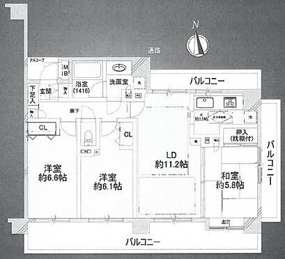 中古マンション-江戸川区松江7丁目 間取り