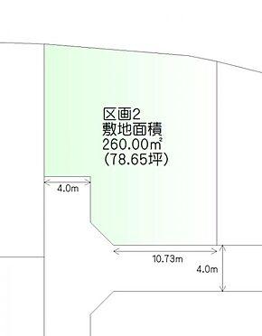 土地-仙台市青葉区荒巻本沢3丁目 区画図