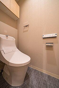 中古マンション-大田区西蒲田7丁目 【Rest room】掃除用具やトイレットペーパーのストック収納に便利な上部収納を採用しています。