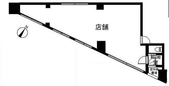 事務所(建物一部)-渋谷区本町4丁目 間取り