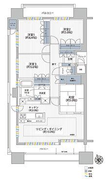 マンション(建物一部)-北上市大通り3丁目 間取り図