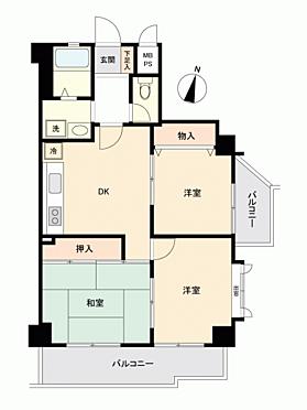 中古マンション-大阪市東住吉区駒川3丁目 間取り