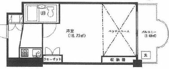 マンション(建物一部)-新宿区北新宿2丁目 間取り