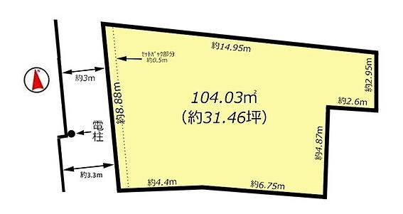 土地-中野区中野5丁目 区画図