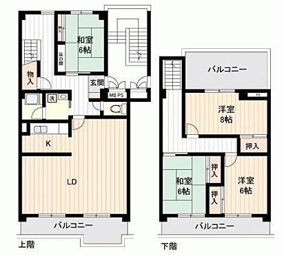 中古マンション-名古屋市天白区八事山 間取り