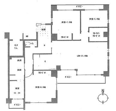 マンション(建物一部)-大阪市住吉区帝塚山中1丁目 間取り