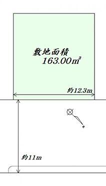 土地-仙台市太白区日本平 区画図