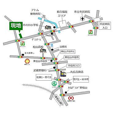 土地-東松山市大字市ノ川 地図