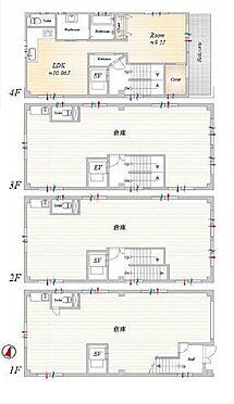 ビル(建物全部)-台東区日本堤1丁目 間取り