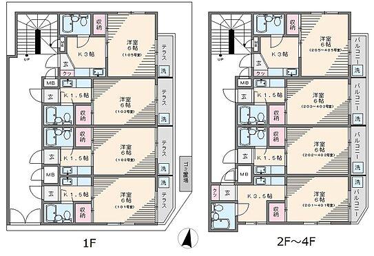 マンション(建物全部)-中野区沼袋2丁目 203号室と403号室は和室仕様