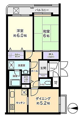 マンション(建物一部)-横浜市青葉区桜台 間取り