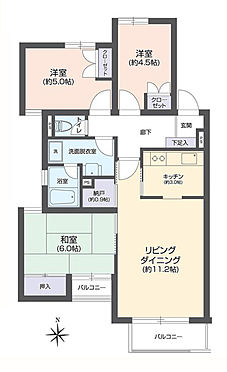 中古マンション-江東区三好3丁目 間取り