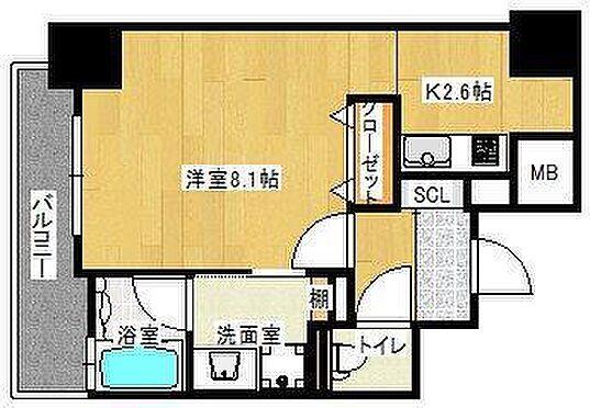マンション(建物一部)-広島市中区十日市町2丁目 間取り