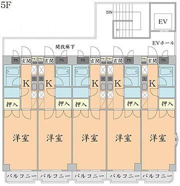 マンション(建物全部)-仙台市太白区柳生2丁目 5階 間取り図