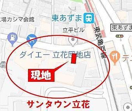 店舗(建物一部)-墨田区立花1丁目 地図