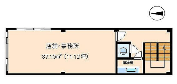 収益ビル-姫路市京口町 2階間取りです。