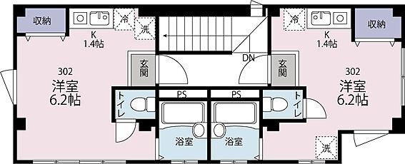 アパート-世田谷区代田5丁目 3階 1Rタイプ 2戸 21平米 18平米 満室稼働中 (410.4万円/年収入)