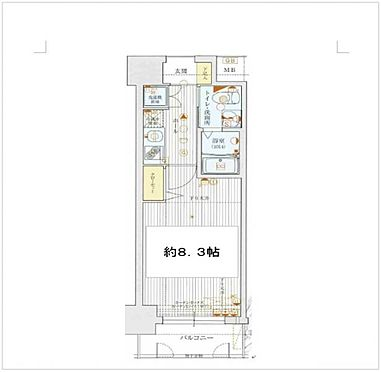 マンション(建物一部)-大阪市東成区玉津1丁目 間取り