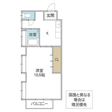 アパート-北茨城市中郷町松井 間取り