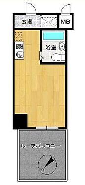 マンション(建物一部)-横浜市中区山下町 専有面積21.89平米・ルーフバルコニー面積8.46平米