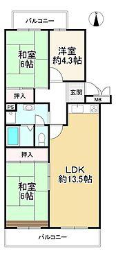 中古マンション-神戸市北区泉台3丁目 間取り