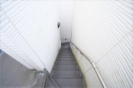 アパート-江戸川区北小岩6丁目 手すりの付いた昇降しやすい階段