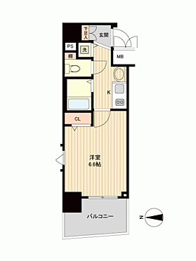 マンション(建物一部)-大阪市中央区瓦町1丁目 間取り