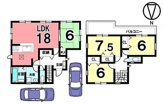 戸建賃貸-磯城郡田原本町大字阪手 全室6帖以上の広さを確保。ゆとりある間取りをご希望のお客様におススメの物件です。南向きの明るいリビングを是非ご覧下さい