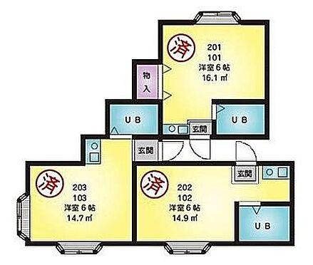 アパート-横浜市南区永田東2丁目 間取り