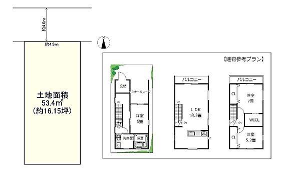 土地-高槻市寿町2丁目 区画図