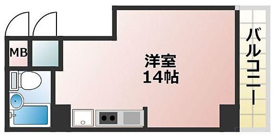 区分マンション-神戸市中央区元町通6丁目 広々1R