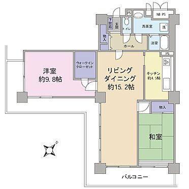 区分マンション-横浜市神奈川区栄町 2LDK+WIC(89.62m2)